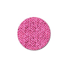 Brick2 White Marble & Pink Marble Golf Ball Marker (10 Pack) by trendistuff