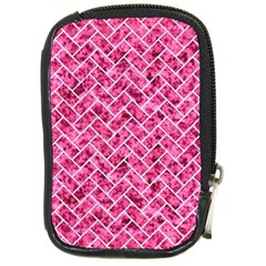 Brick2 White Marble & Pink Marble Compact Camera Cases