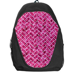 Brick2 White Marble & Pink Marble Backpack Bag
