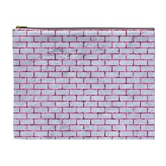 Brick1 White Marble & Pink Marble (r) Cosmetic Bag (xl)