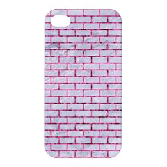 Brick1 White Marble & Pink Marble (r) Apple Iphone 4/4s Premium Hardshell Case