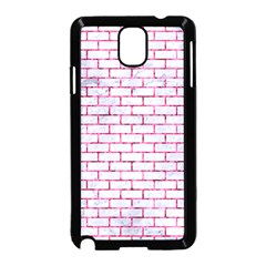 Brick1 White Marble & Pink Marble (r) Samsung Galaxy Note 3 Neo Hardshell Case (black) by trendistuff