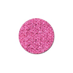 Brick1 White Marble & Pink Marble Golf Ball Marker (10 Pack)