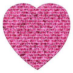 Brick1 White Marble & Pink Marble Jigsaw Puzzle (heart)