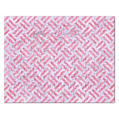Woven2 White Marble & Pink Watercolor (r) Rectangular Jigsaw Puzzl
