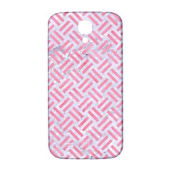 Woven2 White Marble & Pink Watercolor (r) Samsung Galaxy S4 I9500/i9505  Hardshell Back Case by trendistuff