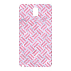 Woven2 White Marble & Pink Watercolor (r) Samsung Galaxy Note 3 N9005 Hardshell Back Case
