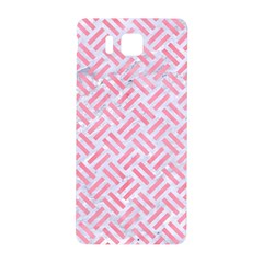 Woven2 White Marble & Pink Watercolor (r) Samsung Galaxy Alpha Hardshell Back Case