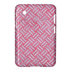 Woven2 White Marble & Pink Watercolor Samsung Galaxy Tab 2 (7 ) P3100 Hardshell Case