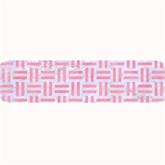 Woven1 White Marble & Pink Watercolor (r) Large Bar Mats