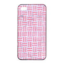 Woven1 White Marble & Pink Watercolor (r) Apple Iphone 4/4s Seamless Case (black)