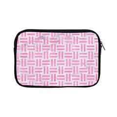 Woven1 White Marble & Pink Watercolor (r) Apple Ipad Mini Zipper Cases