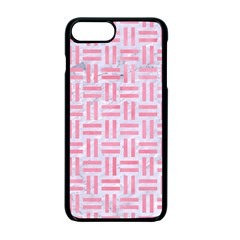 Woven1 White Marble & Pink Watercolor (r) Apple Iphone 7 Plus Seamless Case (black)