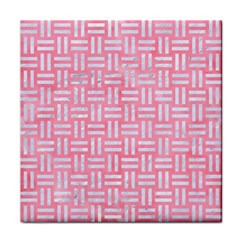 Woven1 White Marble & Pink Watercolor Face Towel by trendistuff