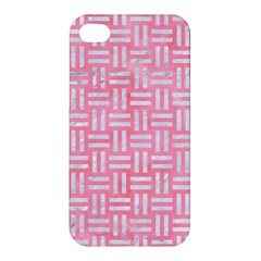Woven1 White Marble & Pink Watercolor Apple Iphone 4/4s Premium Hardshell Case