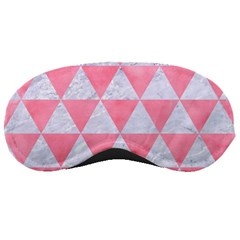 Triangle3 White Marble & Pink Watercolor Sleeping Masks