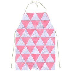 Triangle3 White Marble & Pink Watercolor Full Print Aprons