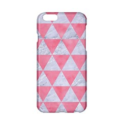 Triangle3 White Marble & Pink Watercolor Apple Iphone 6/6s Hardshell Case