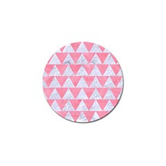 Triangle2 White Marble & Pink Watercolor Golf Ball Marker (10 Pack)