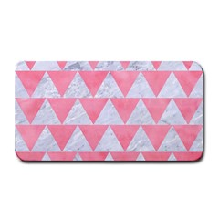 Triangle2 White Marble & Pink Watercolor Medium Bar Mats