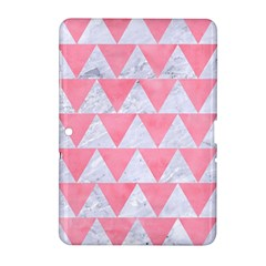 Triangle2 White Marble & Pink Watercolor Samsung Galaxy Tab 2 (10 1 ) P5100 Hardshell Case  by trendistuff