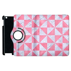 Triangle1 White Marble & Pink Watercolor Apple Ipad 2 Flip 360 Case