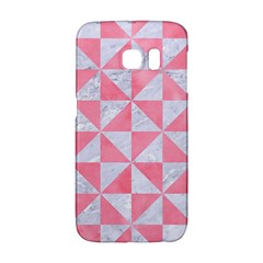 Triangle1 White Marble & Pink Watercolor Galaxy S6 Edge