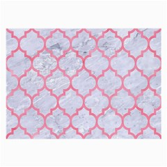 Tile1 White Marble & Pink Watercolor (r) Large Glasses Cloth