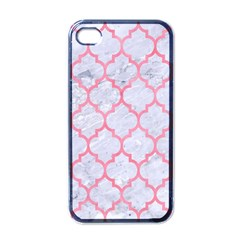 Tile1 White Marble & Pink Watercolor (r) Apple Iphone 4 Case (black)