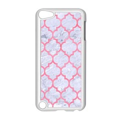 Tile1 White Marble & Pink Watercolor (r) Apple Ipod Touch 5 Case (white)