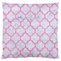 Tile1 White Marble & Pink Watercolor (r) Standard Flano Cushion Case (one Side)