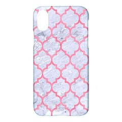 Tile1 White Marble & Pink Watercolor (r) Apple Iphone X Hardshell Case
