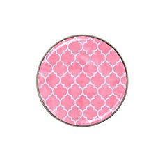 Tile1 White Marble & Pink Watercolor Hat Clip Ball Marker (10 Pack) by trendistuff