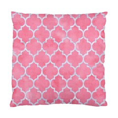 Tile1 White Marble & Pink Watercolor Standard Cushion Case (one Side)