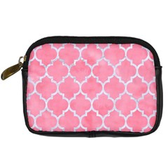 Tile1 White Marble & Pink Watercolor Digital Camera Cases