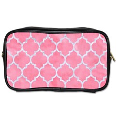 Tile1 White Marble & Pink Watercolor Toiletries Bags