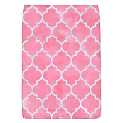 Tile1 White Marble & Pink Watercolor Flap Covers (l)  by trendistuff