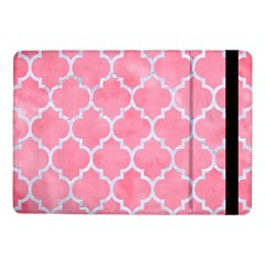 Tile1 White Marble & Pink Watercolor Samsung Galaxy Tab Pro 10 1  Flip Case