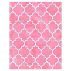 Tile1 White Marble & Pink Watercolor Drawstring Bag (large) by trendistuff