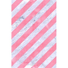 Stripes3 White Marble & Pink Watercolor (r) 5 5  X 8 5  Notebooks