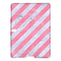 Stripes3 White Marble & Pink Watercolor (r) Samsung Galaxy Tab S (10 5 ) Hardshell Case