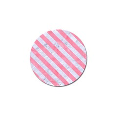 Stripes3 White Marble & Pink Watercolor Golf Ball Marker (4 Pack)