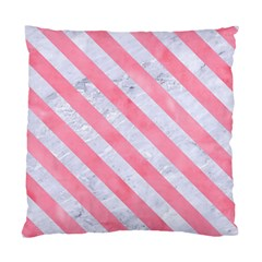 Stripes3 White Marble & Pink Watercolor Standard Cushion Case (two Sides)