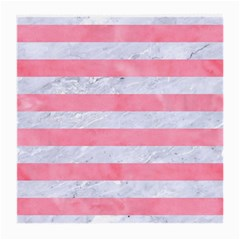 Stripes2white Marble & Pink Watercolor Medium Glasses Cloth (2 Side)