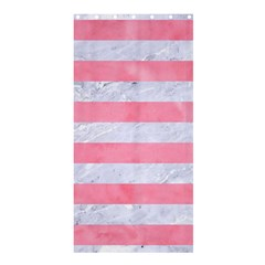Stripes2white Marble & Pink Watercolor Shower Curtain 36  X 72  (stall)