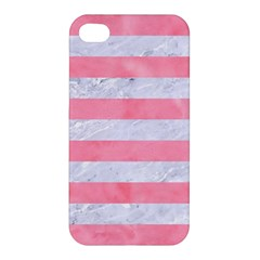 Stripes2white Marble & Pink Watercolor Apple Iphone 4/4s Premium Hardshell Case