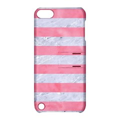 Stripes2white Marble & Pink Watercolor Apple Ipod Touch 5 Hardshell Case With Stand
