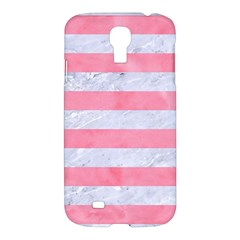 Stripes2white Marble & Pink Watercolor Samsung Galaxy S4 I9500/i9505 Hardshell Case by trendistuff
