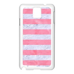 Stripes2white Marble & Pink Watercolor Samsung Galaxy Note 3 N9005 Case (white)