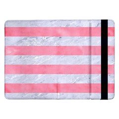 Stripes2white Marble & Pink Watercolor Samsung Galaxy Tab Pro 12 2  Flip Case